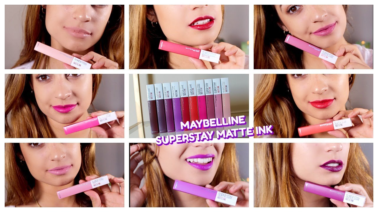 New Maybelline Superstay Matte Ink Swatches Review All 10 Colors