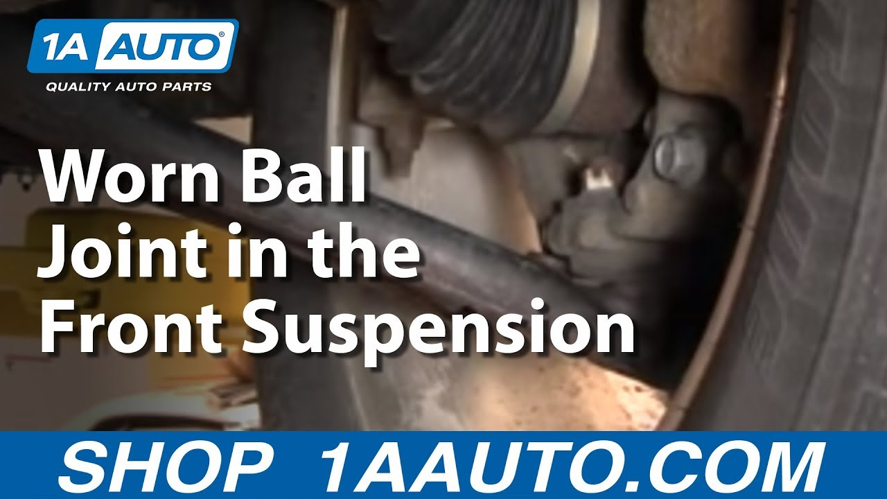 medium resolution of how to diagnose or detect a loose or worn ball joint in the front suspension