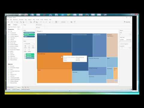 Data Visualization with Tableau -- How to Create Treemap.