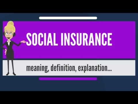 What is SOCIAL INSURANCE? What does SOCIAL INSURANCE mean? SOCIAL INSURANCE meaning & explanation