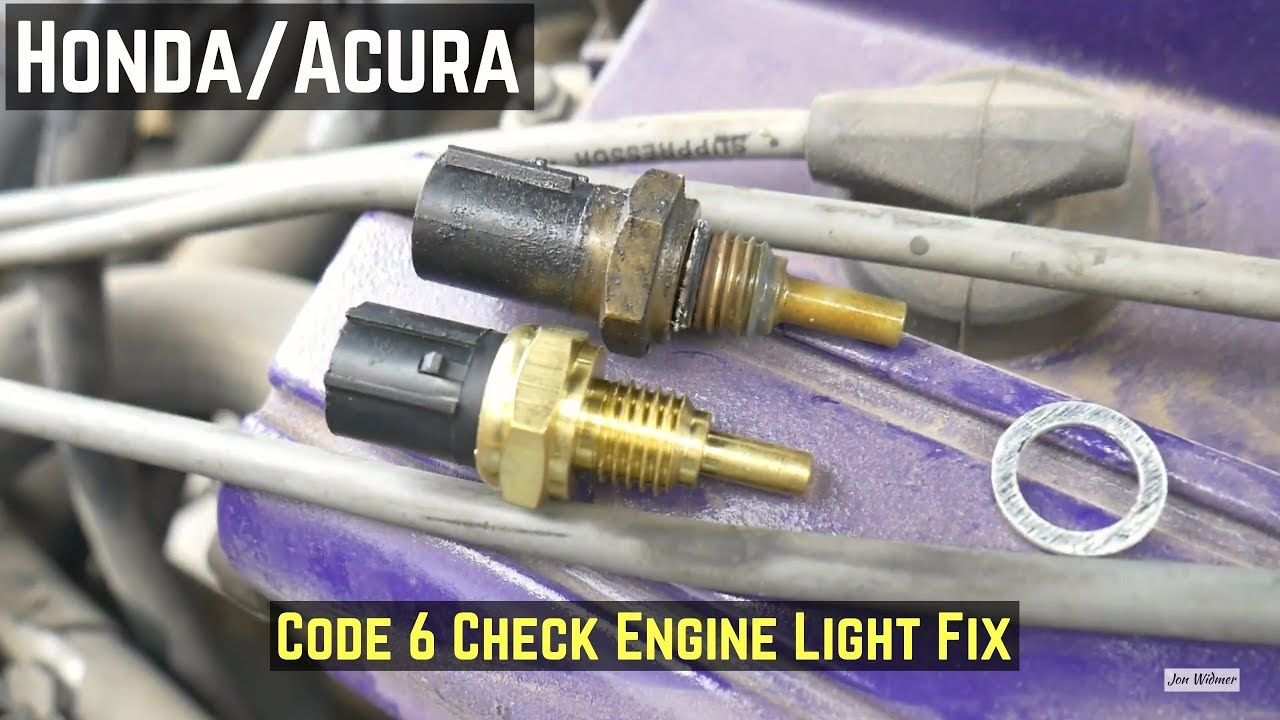 How To Fix Code 6 Fix on Honda/Acura - Replace ECT Engine Coolant Temp Acura Engine Coolant on