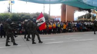 Desfile Militar en Bagua Grande