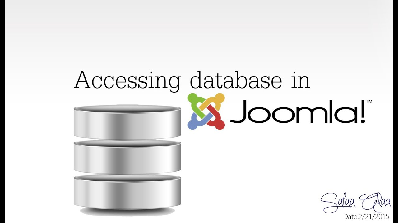 how to create a database in joomla