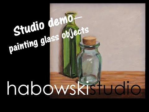 Studio demo - painting glass objects