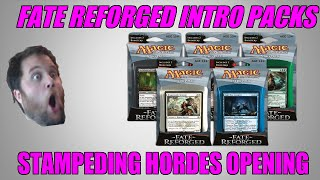 Mtg Fate Reforged Intro Pack Stampeding Hordes Opening