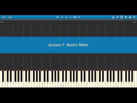 Jackson 5  Rockin Robin    Midi Piano Synthesia