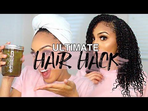 The ULTIMATE Hair Hack!!! DIY Hair Gel for ALL HAIR TYPES