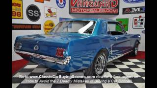 1965 Ford A-Code Mustang Coupe Classic Muscle Car for Sale in MI Vanguard Motor Sales