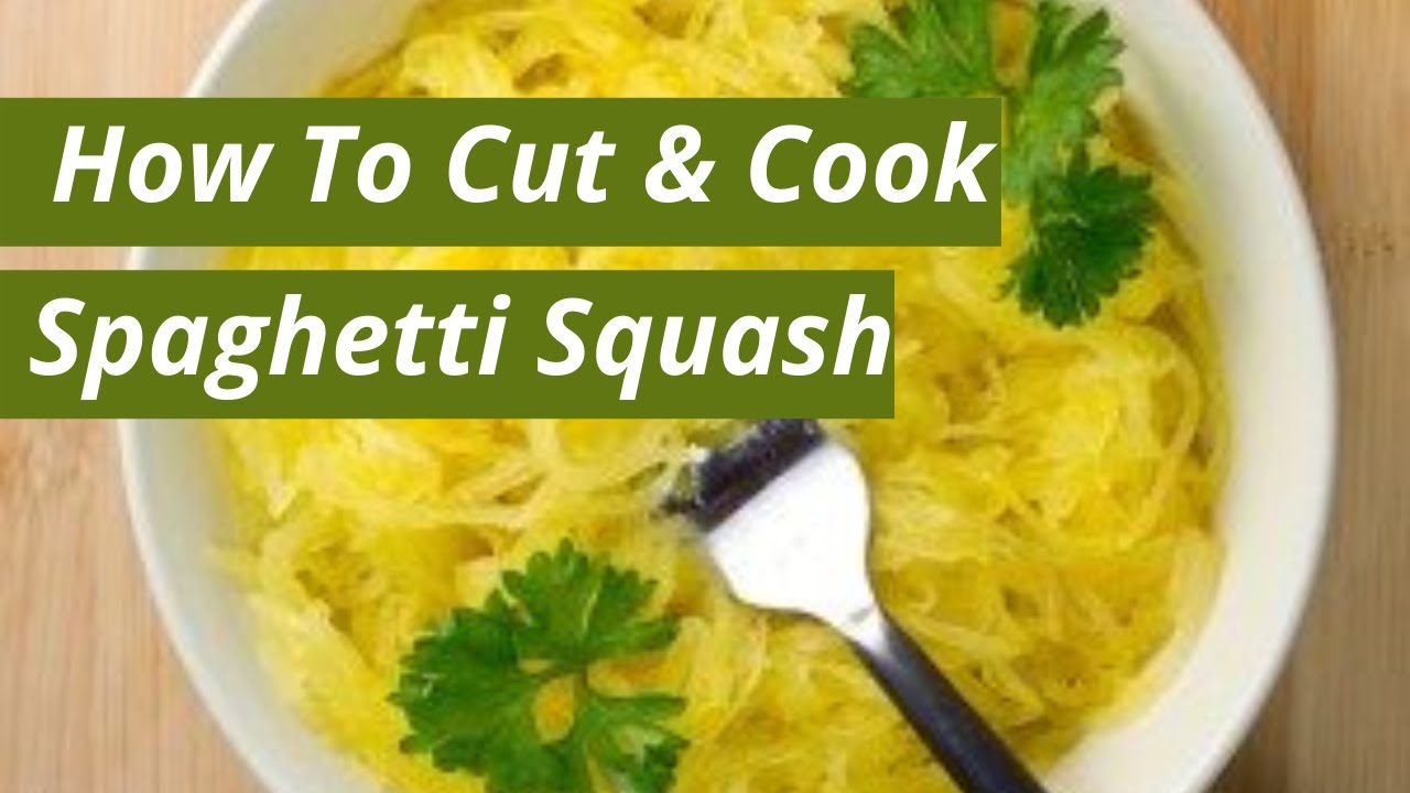 how to easily cut spaghetti squash