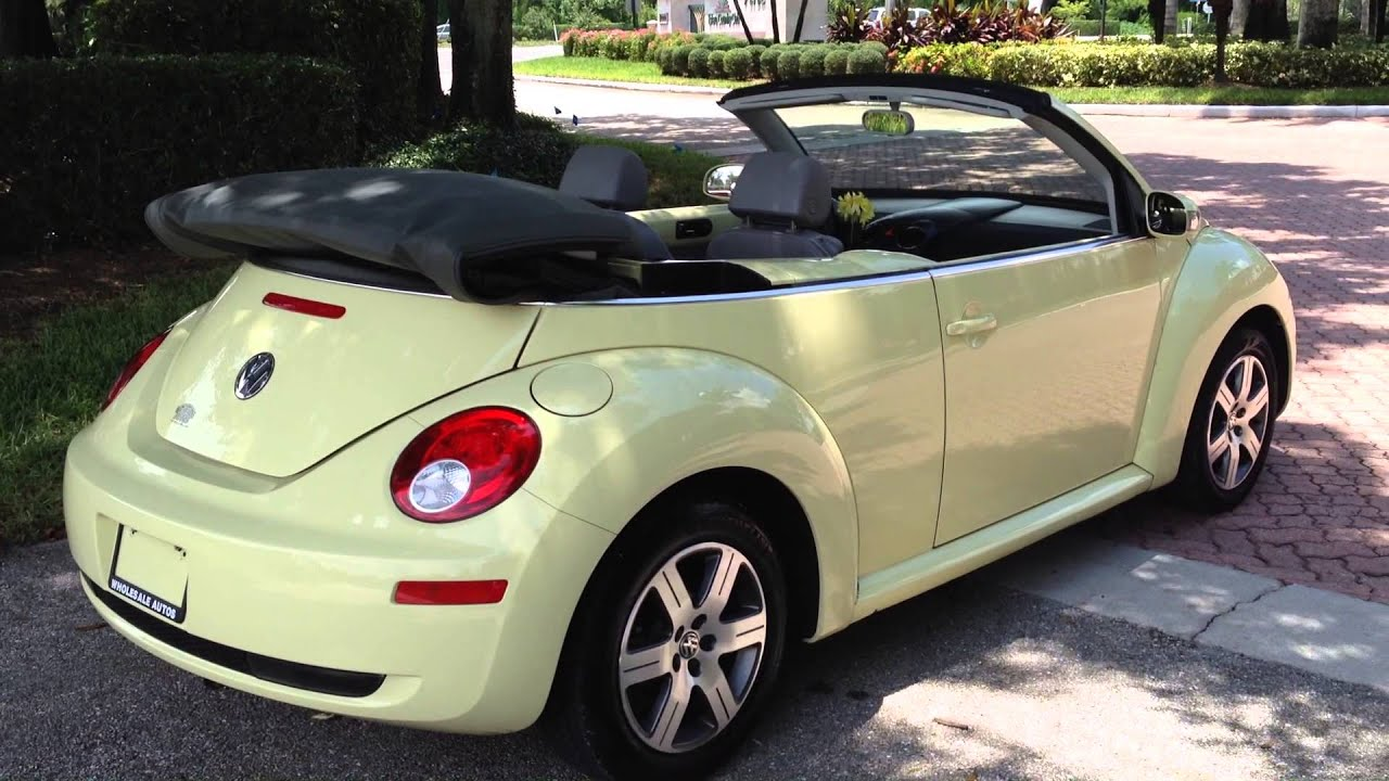Volkswagen Beetle Convertible >> 2006 Volkswagen Beetle Convertible - view our inventory at FortMyersWA.com - YouTube