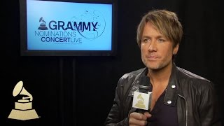 Keith Urban Backstage at the 56th GRAMMY Award Nominations Concert