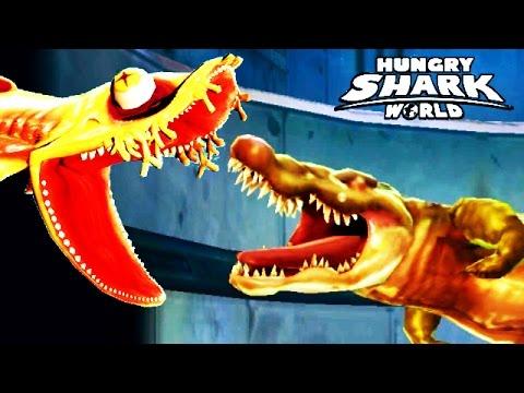 Hungry shark world heidi vs south china sea sewer crocs for Feed and grow fish free no download