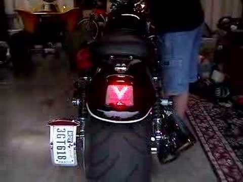 V-ROD Custom LED array rear turn signals - YouTube