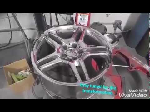 Restoring Peeling Damaged Chrome Wheels - RTP Customs