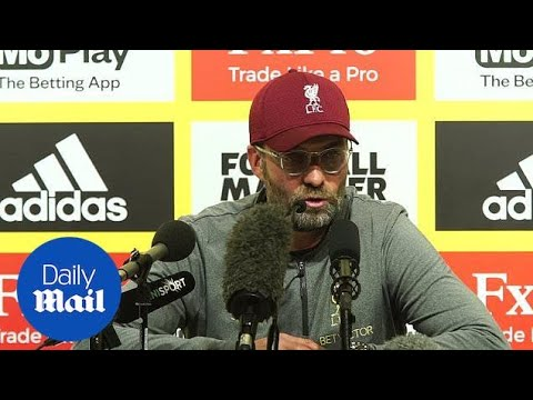 Watford 0-3 Liverpool: Klopp gives post-match press conference