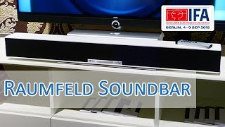 IFA 2015: Raumfeld Soundbar vorgestellt Hands on