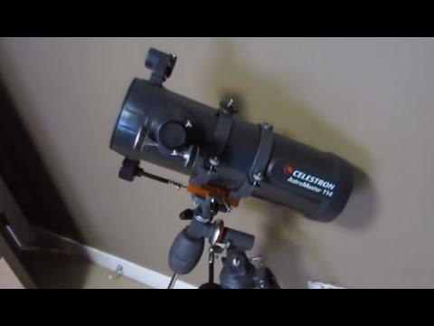 Celestron astromaster eq newtonian reflector telescope youtube