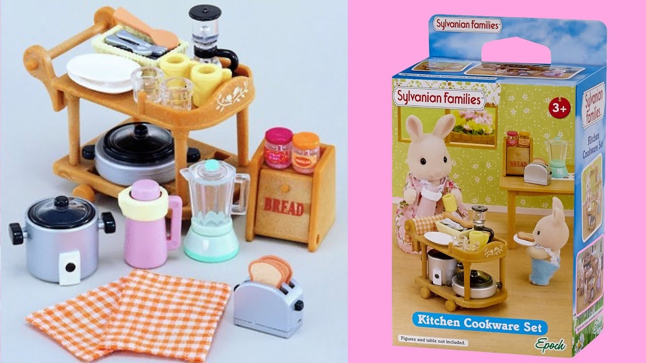 Sylvanian Families Kitchen Cookware Set Review YouTube