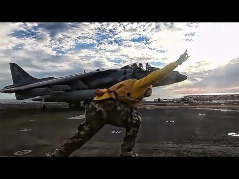 Harrier Launch At Sea