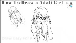 How to draw adult Girl