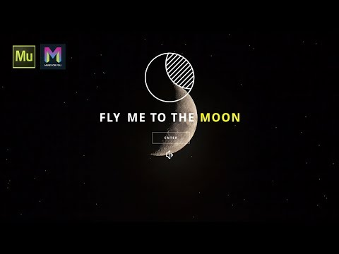 Fly Me To The Moon Landing Page | Adobe Muse CC | Muse For You