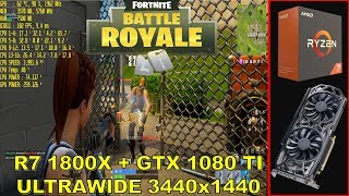 Fortnite Battle Royale EPIC Settings 3440x1440 | GTX 1080 TI | Ryzen 7 1800X@4.0GHz
