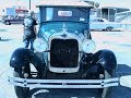 1928 Ford Model A Roadster GrnBlk ZH 021916