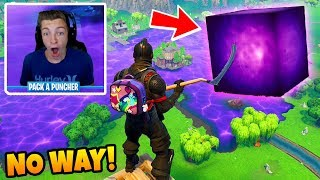 REACTING to the CUBE *DESTROYING* LOOT LAKE! Loot Lake Cube Event Reaction (Fortnite Battle Royale)