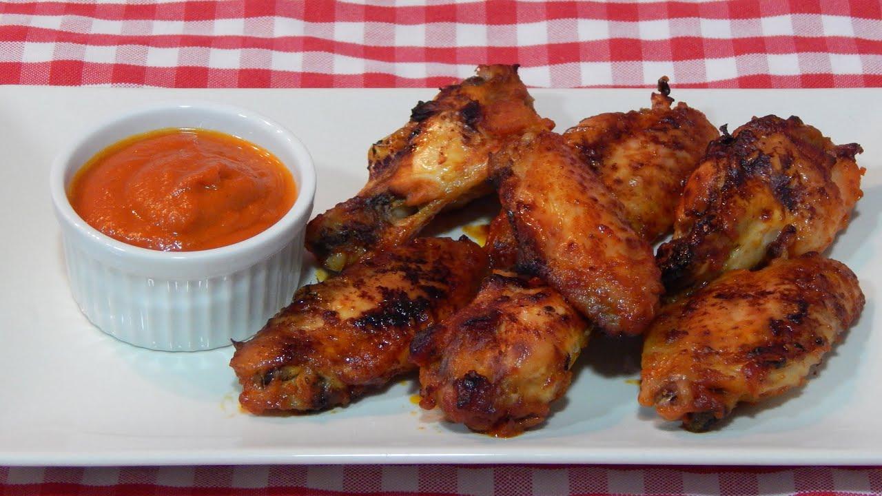 Alitas de pollo con salsa barbacoa receta f cil youtube - Muslitos de pollo ...