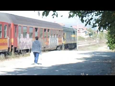 RAILWAYS MACEDONIA TRAIN KICEVO-SKOPJE  KENEDI 661-223,Start from Kicevo- Amazing sound