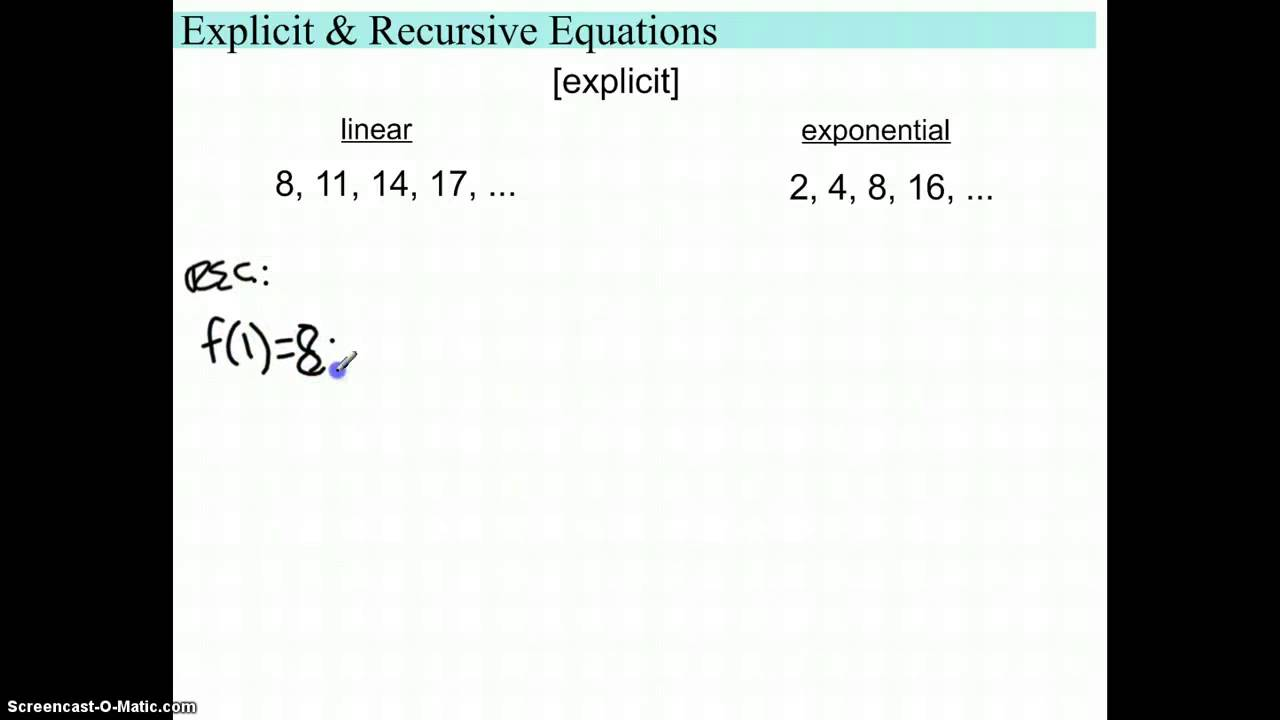 Recursive Sequences