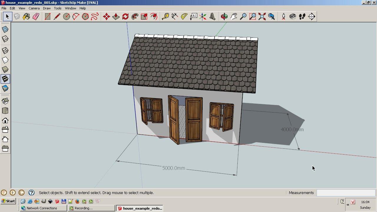 Hướng dẫn sử dụng phần mềm Sketchup vẽ mô hình 3D, phần 2: Vẽ một ngôi nhà nhỏ (Vietnamese)