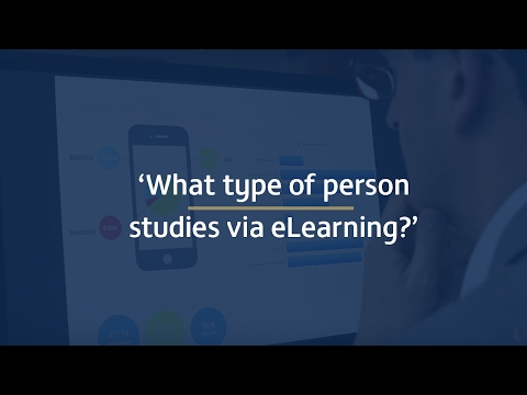 3: What type of person studies via eLearning?