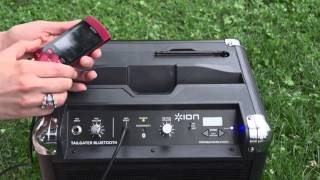Ion Tailgater Bluetooth portable speaker system with ipod dock @ Ion2go