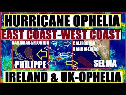 WEST COAST Hurricane?!(INVEST 91E) EAST COAST Dist.Bahamas & FLORIDA, OPHELIA (Ireland,UK)