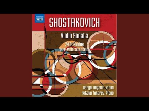 24 Preludes, Op. 34: No. 22 In G Minor. Adagio (Arr. D. Tsyganov For Violin & Piano)