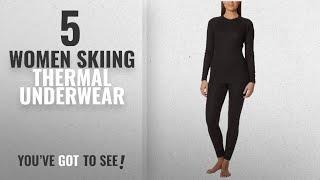 Top 10 Women Skiing Thermal Underwear [2018]: Ultrasport Women's Thermal Underwear Set - Black,