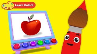 Toddlers Learn Colors with Petey Paintbrush   Early Learning Videos for Baby Development & Education