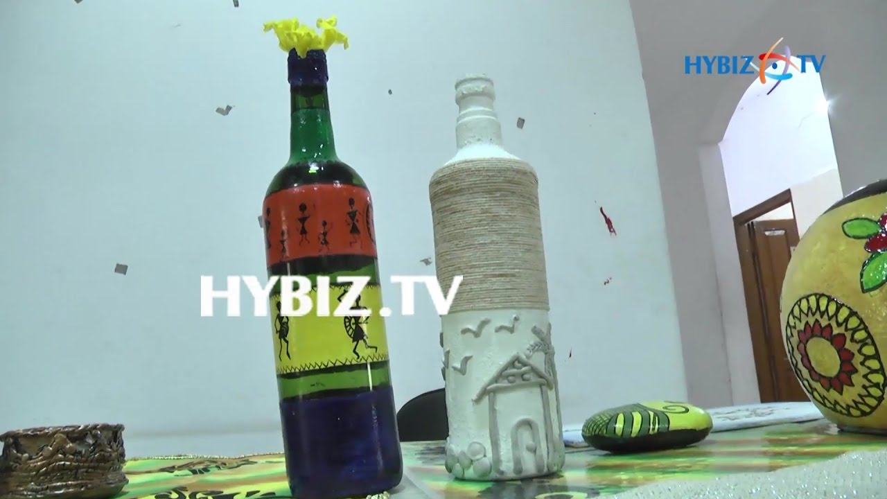 Waste Glass Bottles Craft Designs Hybiz Youtube