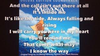 I Am Moana (Song of the Ancestors) - Moana (Lyrics)