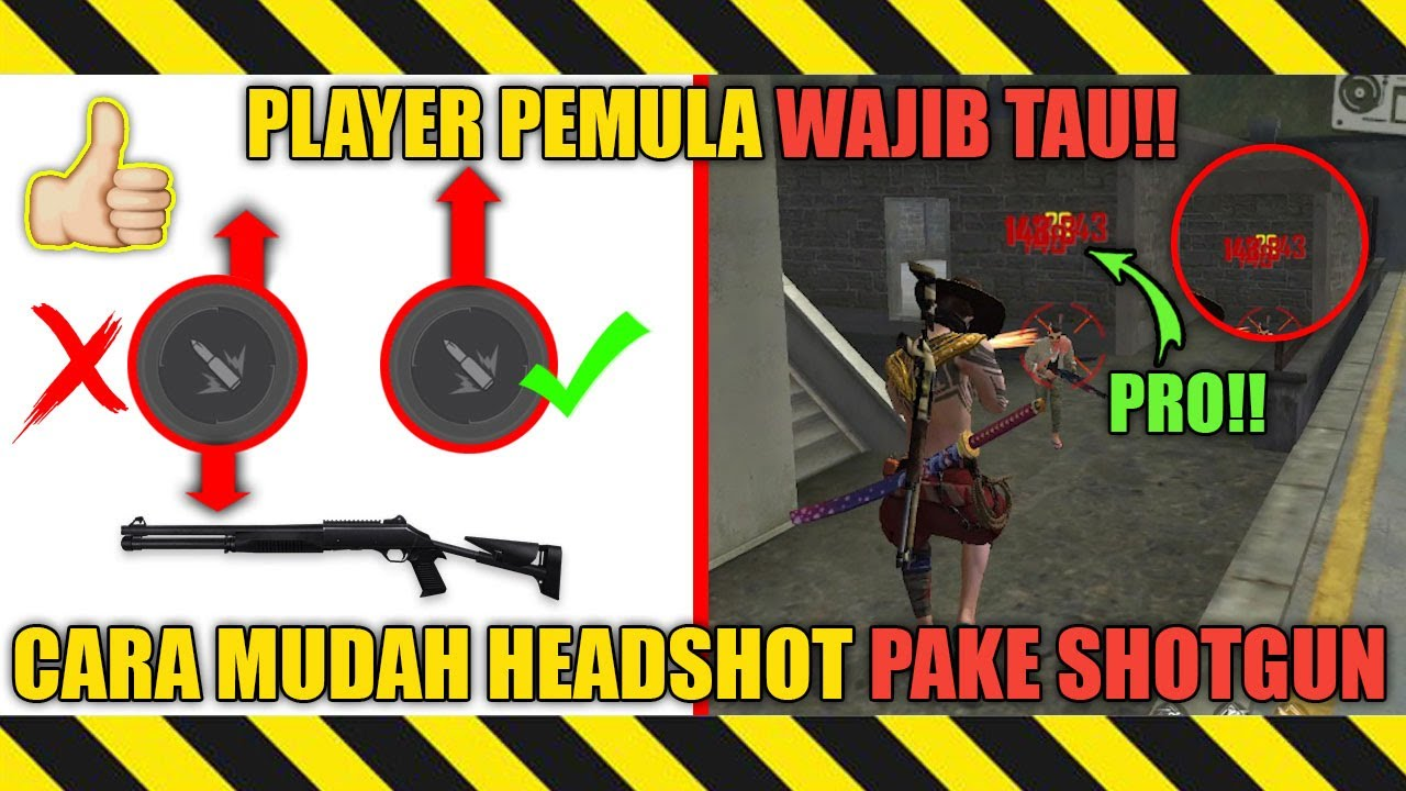 AUTO HEADSHOT❗CARA MUDAH 1 HIT HEADSHOT MENGGUNAKAN SHOTGUN M1014 UNTUK PEMULA - GARENA FREE FIRE