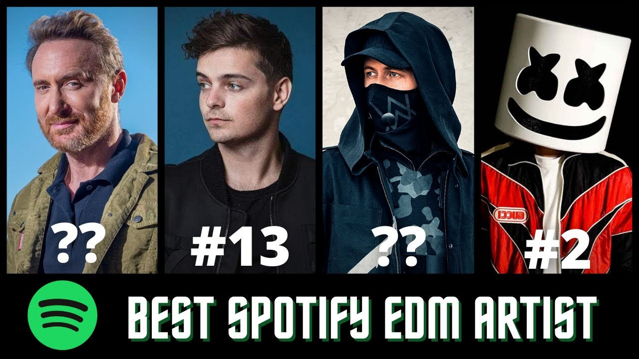 Download Top 20 EDM Artists With The Most Spotify Monthly Listeners