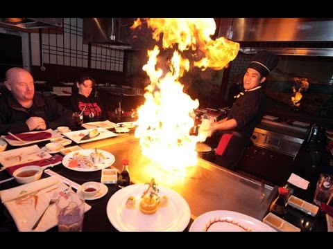 Teppanyaki show from professional chef