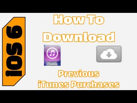 How To Download iTunes Past Purchases on iOS 6 (Music, Movies, and TV Shows)