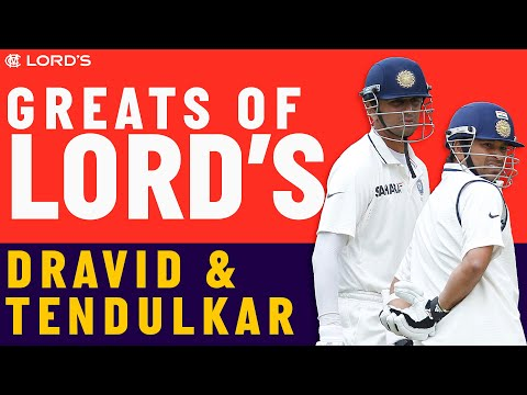 Rahul Dravid & Sachin Tendulkar - Greats of Lord's