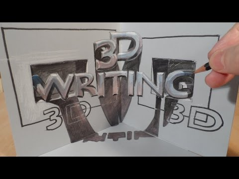 Drawing 3D Writing, Magic Letters in three dimensional Space