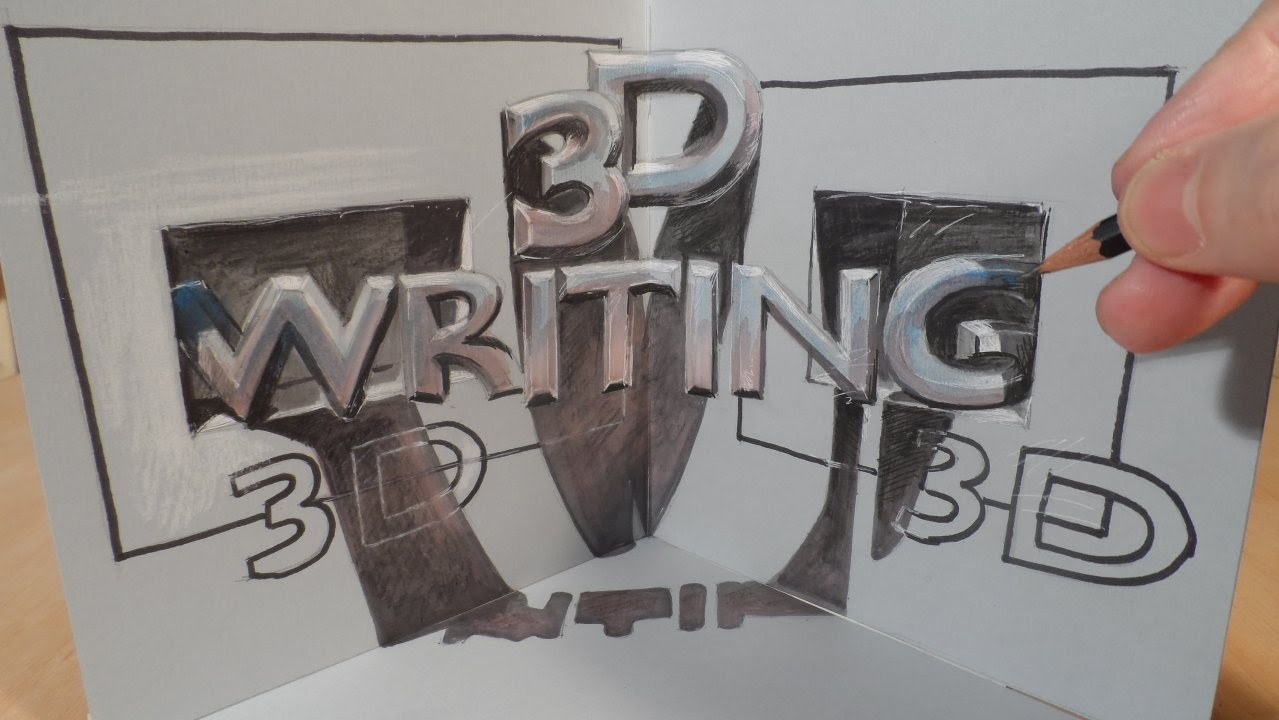 Drawing 3d Writing Magic Letters In Three Dimensional