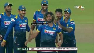 malinga hat-trick SL vs BAN T20 2017