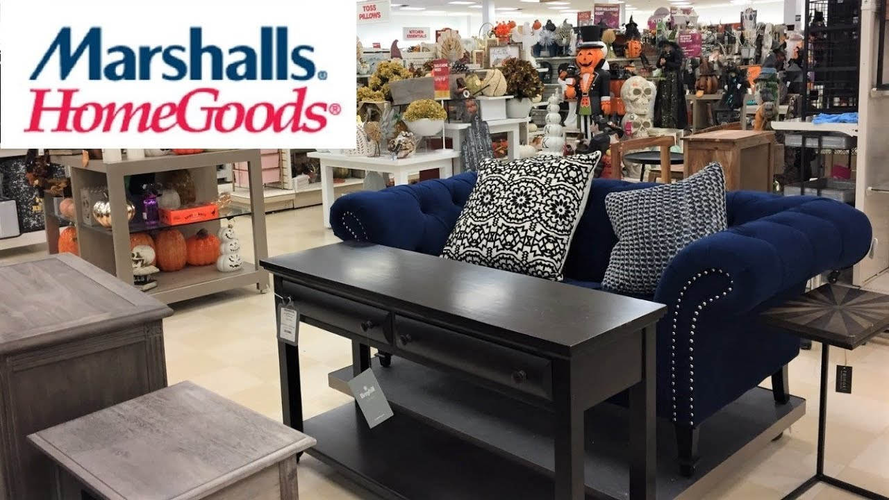 MARSHALLS HOME GOODS FURNITURE FALL HOME DECOR SHOP WITH ME SHOPPING STORE  WALK THROUGH 4K