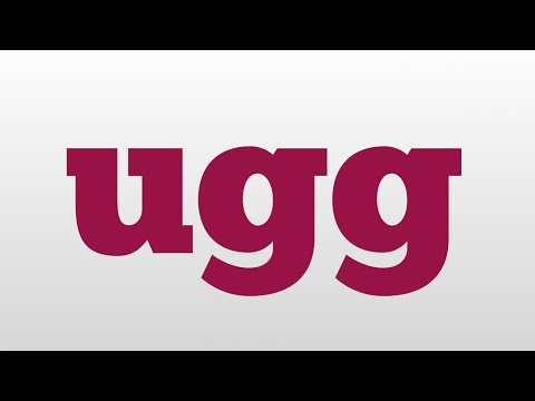 uggs meaning